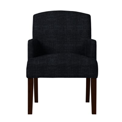 Larose Hardwood Arm Chair Upholstery: Black