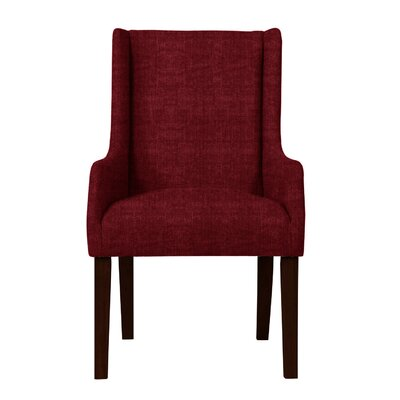 Larrabee Upholstered Solid Back Arm Chair Upholstery: Red