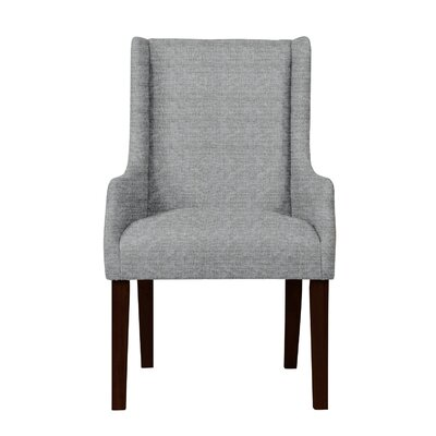 Larrabee Wood Legs Arm Chair Upholstery: Light Gray