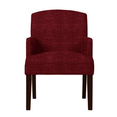 Larose Hardwood Arm Chair Upholstery: Red