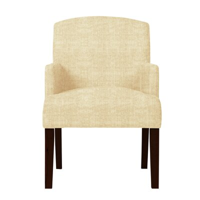 Larose Hardwood Arm Chair Upholstery: Cream