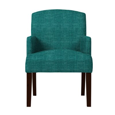 Larose Hardwood Arm Chair Upholstery: Teal