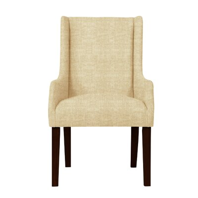 Larrabee Upholstered Solid Back Arm Chair Upholstery: Beige