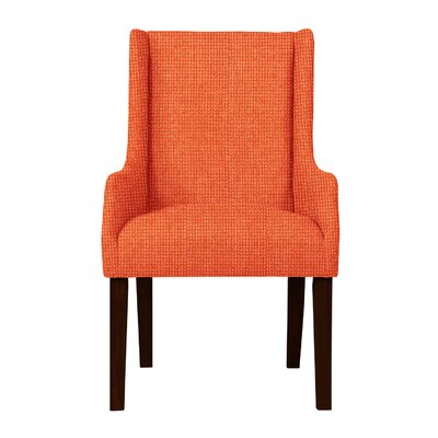 Larrabee Birch Hardwood Framed Arm Chair Upholstery: Orange