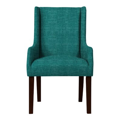 Larrabee Upholstered Solid Back Arm Chair Upholstery: Teal