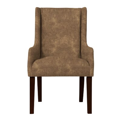 Larrabee Solid Back Arm Chair Upholstery: Dark Brown