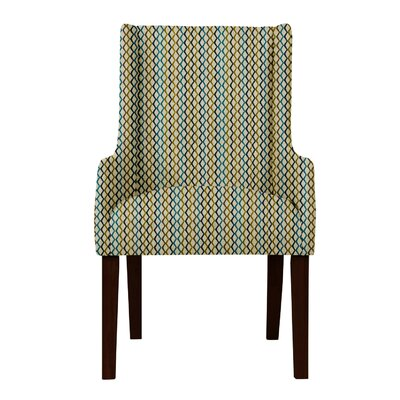 Larrabee Lattice Upholstered Arm Chair Upholstery: Beige/Brown