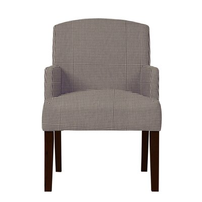Larose Cotton Formal Arm Chair Upholstery: Dark Brown