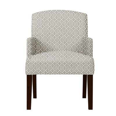 Larose Geometric Wood Legs Arm Chair Upholstery: Gray