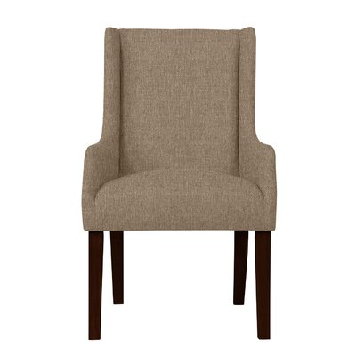 Larrabee Hardwood Arm Chair Upholstery: Light Brown