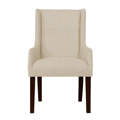 Larrabee Upholstery Cotton Arm Chair Upholstery: Beige