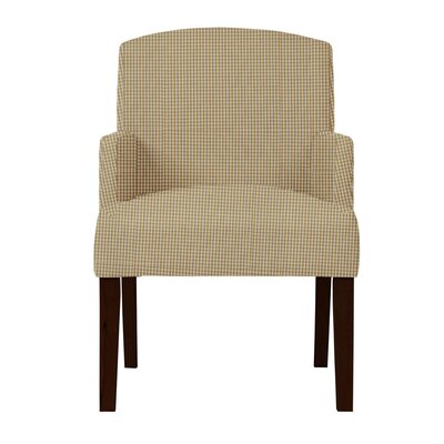 Larose Cotton Formal Arm Chair Upholstery: Light Brown