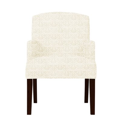 Keisha Wood Arm Chair Upholstery: Beige