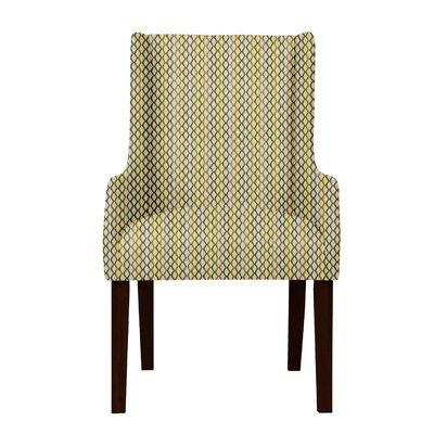 Larrabee Lattice Upholstered Arm Chair Upholstery: Beige/Blue