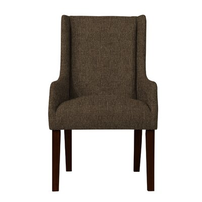 Larrabee Hardwood Arm Chair Upholstery: Dark Brown