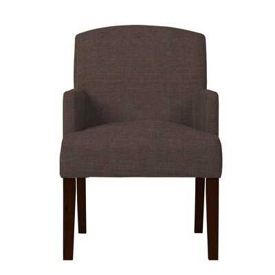 Larose Solid Upholstered Arm Chair Upholstery: Brown
