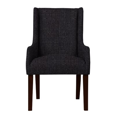 Larrabee Birch Hardwood Framed Arm Chair Upholstery: Black