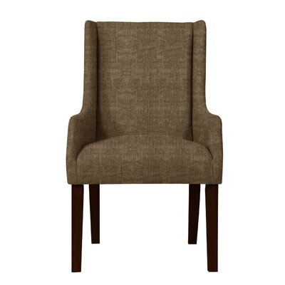 Larrabee Solid Wood Arm Chair Upholstery: Brown