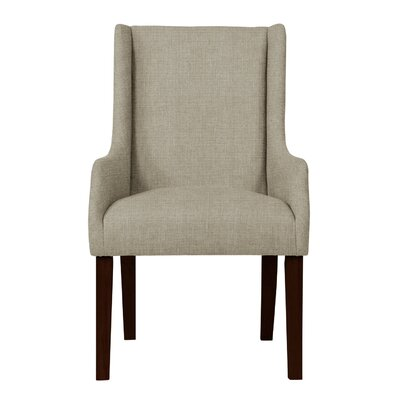 Larrabee Solid Back Formal Arm Chair Upholstery: Light Gray