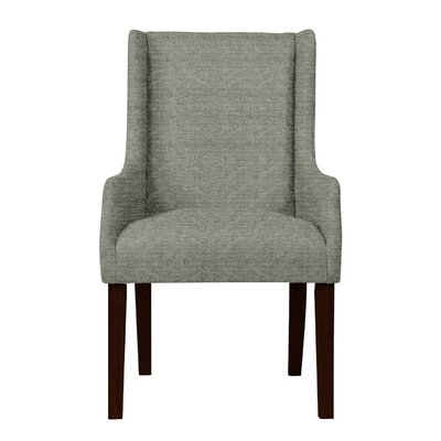 Larrabee Wood Legs Arm Chair Upholstery: Gray