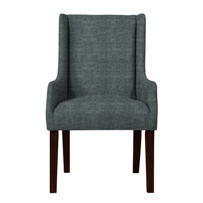 Larrabee Upholstered Solid Back Arm Chair Upholstery: Gray