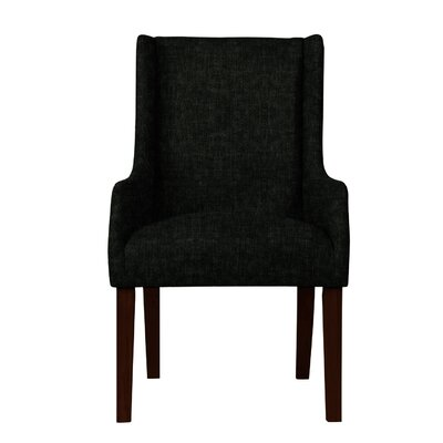 Larrabee Upholstered Arm Chair Upholstery: Black