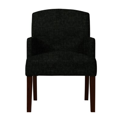 Larose Upholstered Arm Chair Upholstery: Black