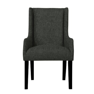 Larrabee Hardwood Arm Chair Upholstery: Dark Gray