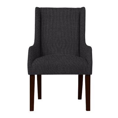 Larrabee Birch Hardwood Framed Arm Chair Upholstery: Dark Gray