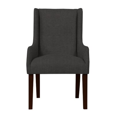 Larrabee Solid Back Arm Chair Upholstery: Dark Gray