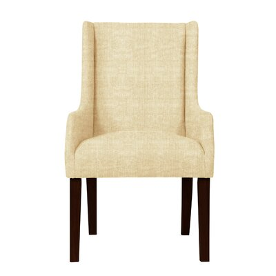 Larrabee Upholstered Solid Back Arm Chair Upholstery: Cream