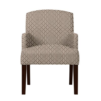 Larose Geometric Wood Legs Arm Chair Upholstery: Brown