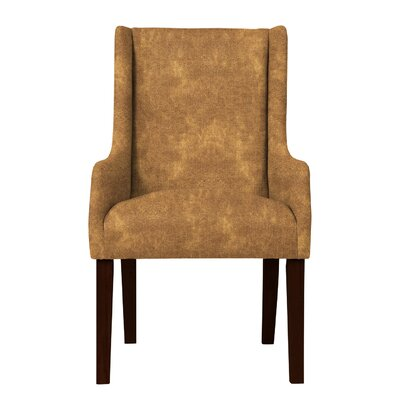 Larrabee Solid Back Arm Chair Upholstery: Light Brown