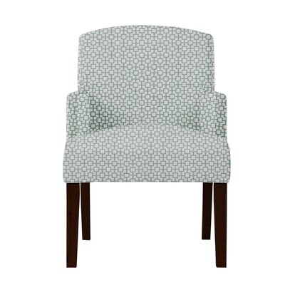 Larose Geometric Wood Legs Arm Chair Upholstery: Green