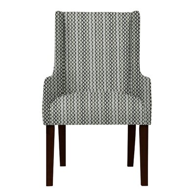 Larrabee Lattice Upholstered Arm Chair Upholstery: Gray