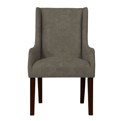 Larrabee Solid Back Arm Chair Upholstery: Light Gray