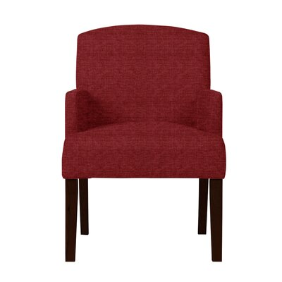 Larose Solid Upholstered Arm Chair Upholstery: Red