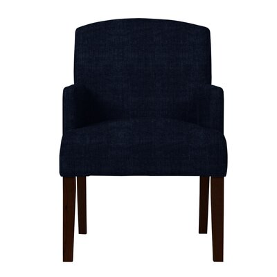 Larose Hardwood Arm Chair Upholstery: Dark Blue