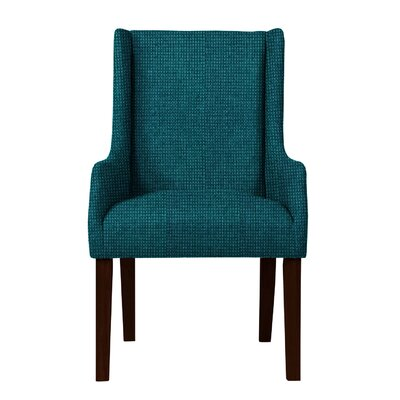 Larrabee Birch Hardwood Framed Arm Chair Upholstery: Teal