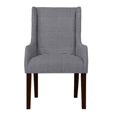 Larrabee Upholstery Cotton Arm Chair Upholstery: Gray