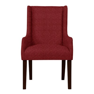Larrabee Wood Legs Arm Chair Upholstery: Red
