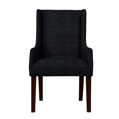 Larrabee Solid Wood Arm Chair Upholstery: Black