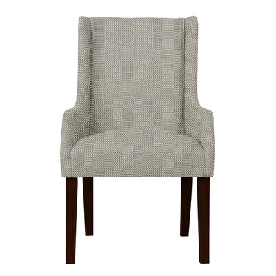 Larrabee Birch Hardwood Framed Arm Chair Upholstery: Light Gray