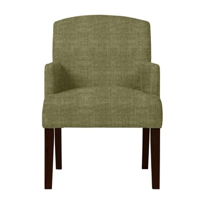 Larose Hardwood Arm Chair Upholstery: Green