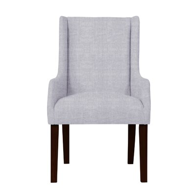 Larrabee Upholstered Solid Back Arm Chair Upholstery: Light Gray