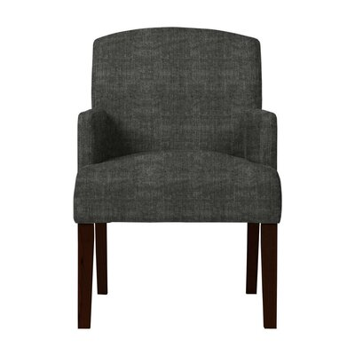 Larose Hardwood Arm Chair Upholstery: Dark Gray