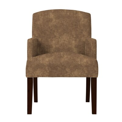 Larose Solid Wood Arm Chair Upholstery: Dark Brown
