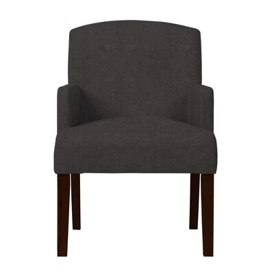 Larose Solid Wood Arm Chair Upholstery: Dark Gray