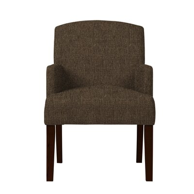 Larose Fabric Arm Chair Upholstery: Dark Brown