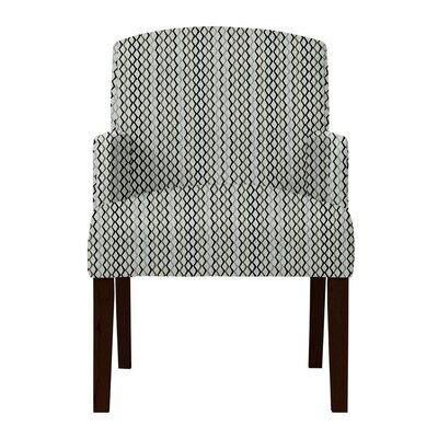 Larose Zigzag Arm Chair Upholstery: Gray